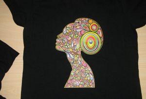 Svart t-skjorte utskrift av A2 t-skjorte skriver WER-D4880T