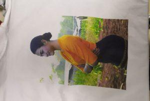 T-skjorter utskrift prøve for Burma klient fra WER-EP6090T skriver