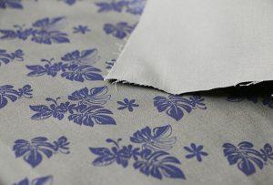 Tekstilutskriftseksempel 2 ved digital tekstilmaskin WER-EP7880T